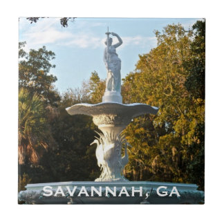 Savannah Georgia | Forsyth Park Fountain Tile