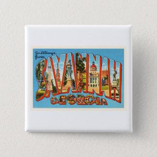 Savannah Georgia GA Old Vintage Travel Souvenir 15 Cm Square Badge