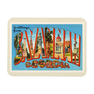 Savannah Georgia GA Old Vintage Travel Souvenir Magnet