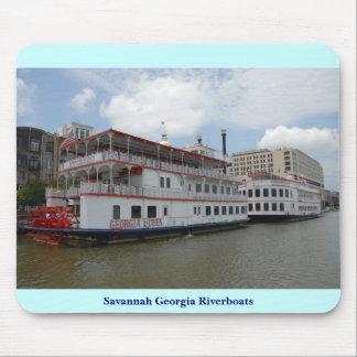 Savannah Georgia Riverboats Mousepad