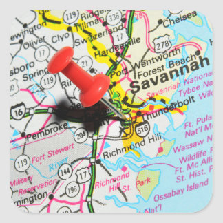 Savannah, Georgia Square Sticker