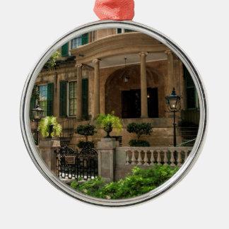 Savannah Georgia Victorian Historical House 2 Metal Ornament