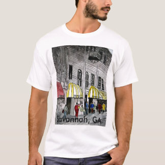 Savannah River Street  GA cityscape t shirt