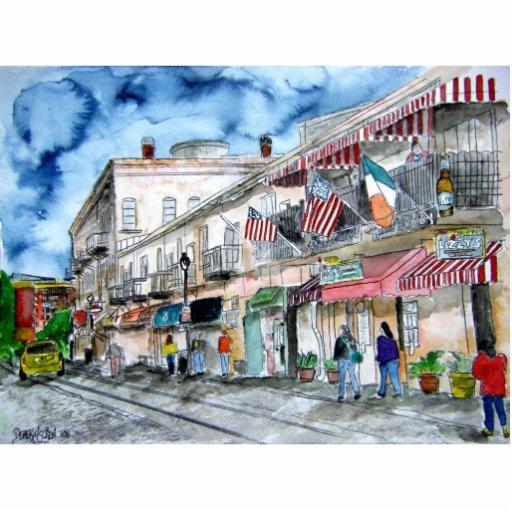savannah_river_street_painting photo cutout