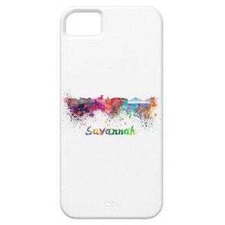 Savannah skyline in watercolor iPhone 5 cover