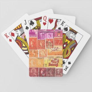 Savannah Sunset Playing Cards, Postage Stamp Art Poker Deck