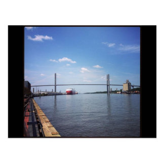 Savannah Suspension Bridge Postcard