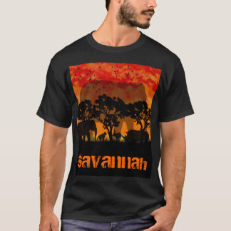 savannah t shirt for men african theme