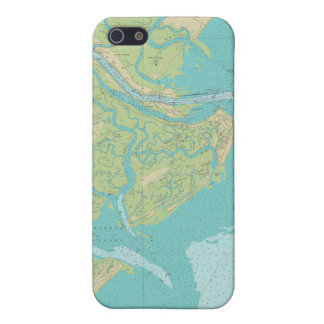 Savannah Tybee Island Nautical Chart Phone Case