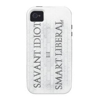 Savant Idiot=Smart Liberal iPhone 4 Covers
