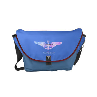 Savarona logo Skyblue Rickshaw Messenger Small Bag Messenger Bag