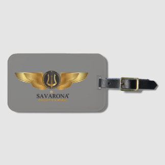 Savarona Neptune Logo Luggage Tag with Card Slot