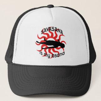 savasana lid trucker hat