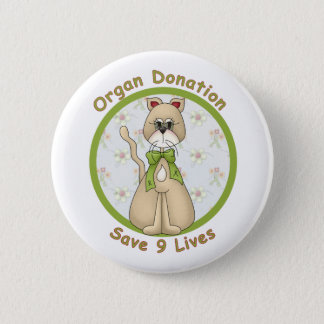 Save 9 Lives 6 Cm Round Badge