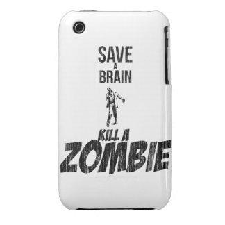 Save a brain Kill a zombie Case-Mate iPhone 3 Case