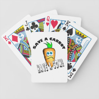 SAVE A CARROT - HAVE A COW BICYCLE PLAYING CARDS