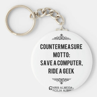 Save a computer, Ride a Geek Key Ring