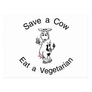 Save a Cow Eat A Vegetarian Postcard