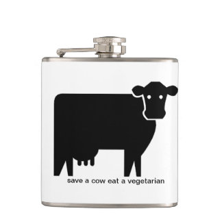 save a cow hip flask