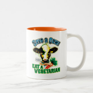 Save a Cow Two-Tone Coffee Mug