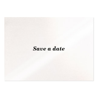 SAVE A DATE WITH ME. PACK OF CHUBBY BUSINESS CARDS