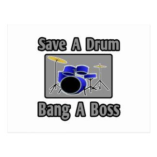Save a Drum...Bang a Boss Postcard