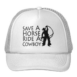 Save A Horse Ride A Cowboy 2 Trucker Hats