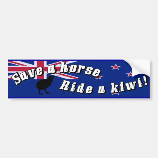 Save a Horse Ride a Kiwi Bumper Sticker NZ