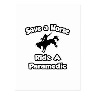 Save a Horse .. Ride a Paramedic Postcard