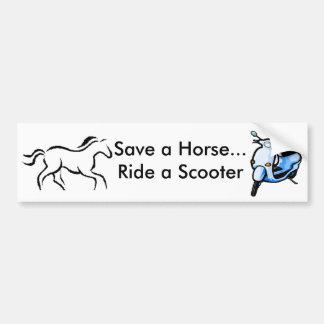 save a horse ride a scooter bumper sticker