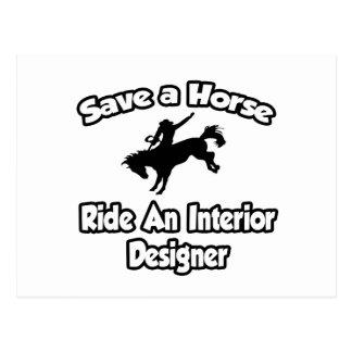 Save a Horse, Ride an Interior Designer Postcard