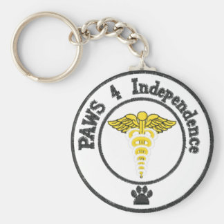 Save a human, support a service dog key ring