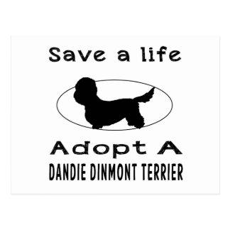 Save a life adopt a Dandie Dinmont Terrier Postcard