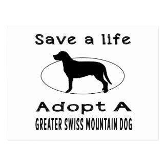 Save a life adopt a Greater Swiss Mountain Dog Postcard