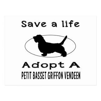 Save a life adopt a Petit Basset Griffon Vendeen Postcard