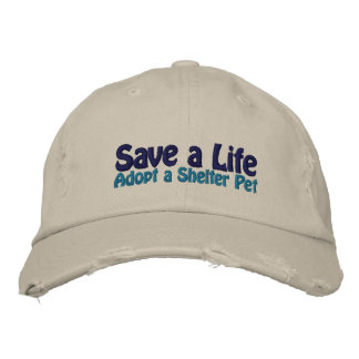 Save a Life - Adopt a Shelter Cat Embroidered Hat