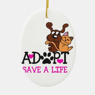 SAVE A LIFE CERAMIC OVAL DECORATION