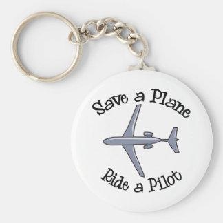 Save a Plane Keychain