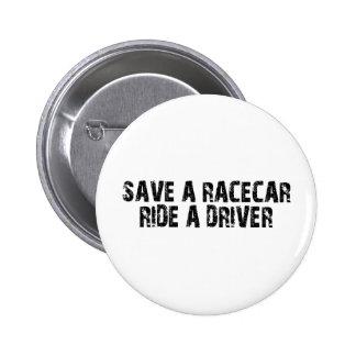 Save A Racecar Ride A Driver Pins