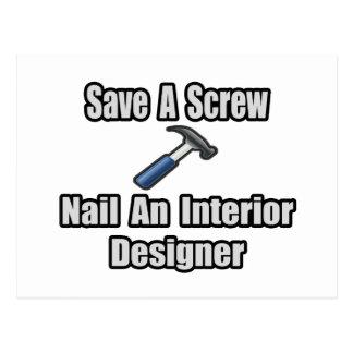 Save a Screw, Nail an Interior Designer Postcard