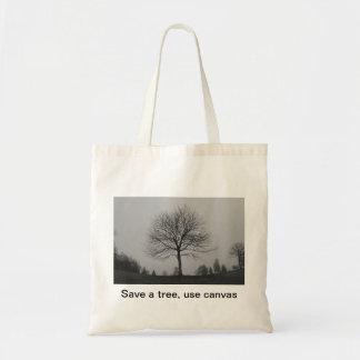 Save a tree tote bag