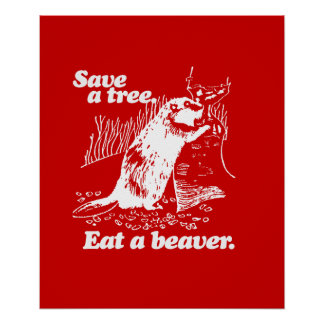 SAVE A TREE - WHITE -.png Posters