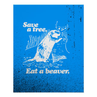 SAVE A TREE - WHITE -.png Print