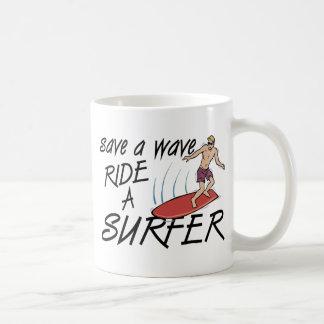 Save A Wave Ride A Surfer Coffee Mug
