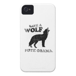 SAVE A WOLF VOTE OBAMA Faded.png iPhone 4 Cases