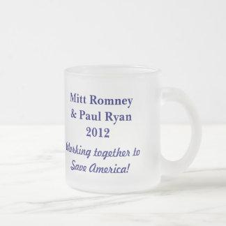 Save America!-Elect Romney & Ryan 2012+U.S. Flag Mugs