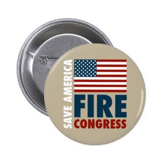 Save America Fire Congress 6 Cm Round Badge