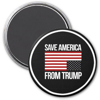 Save America From Trump -- white - 7.5 Cm Round Magnet