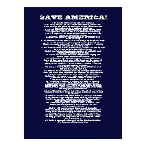 SAVE AMERICA INVITE
