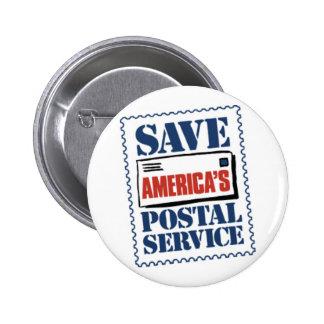 Save America's Postal Service 6 Cm Round Badge